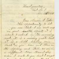 Letter from Leroy Pike to Anna Wilcox, April 1864