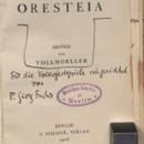 Des Aischylos Oresteia [promptbook]