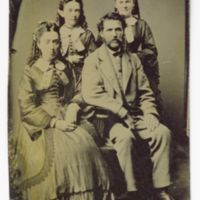 Group photograph of Anna Wilcox, John Pike, Mrs. J. Pike, and Mrs. W. S. Pike