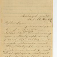 Letter from William S. Pike to Anna Wilcox, Washington Street Hospital.