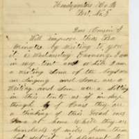 Letter from Leroy Pike to Anna Wilcox, May 1864