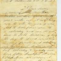 Letter from William S. Pike to Anna Wilcox from Fort Federal Hill
