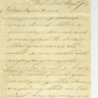 Spring of 1864 Letter to Anna Wilcox from William S. Pike