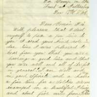 Letter from Leroy Pike to Anna Wilcox, December 1864