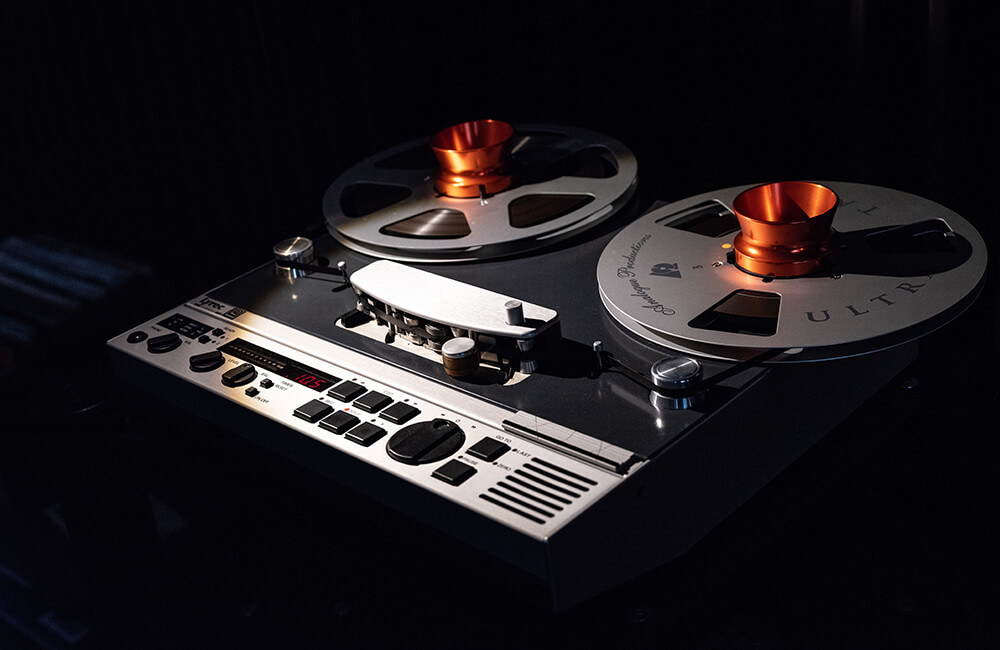 Photo of a reel to reel recording machine